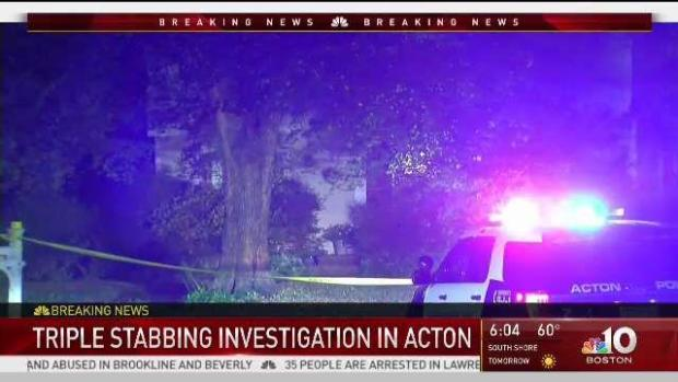 [NECN] Authorities Investigate Triple Stabbing in Acton