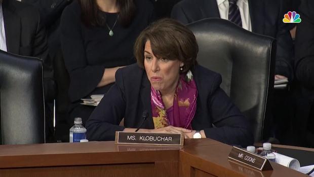 [NATL] Sen. Amy Klobuchar Presses Attorney General Nominee William Barr on Government Shutdown