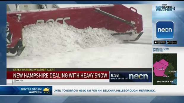 [NECN] New Hampshire Dealing With Heavy Snow