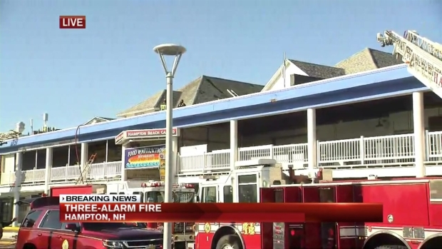 [NECN] 3-Alarm Fire at Hampton Beach Casino