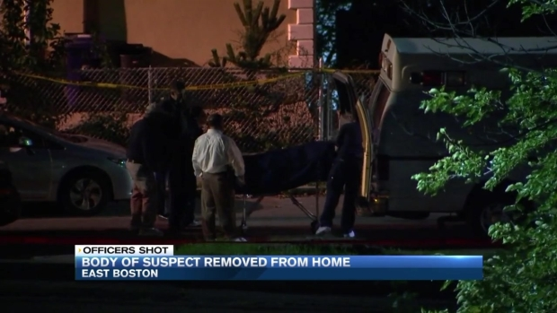 [NECN] Body of Man Who Shot 2 Officers Removed From Home