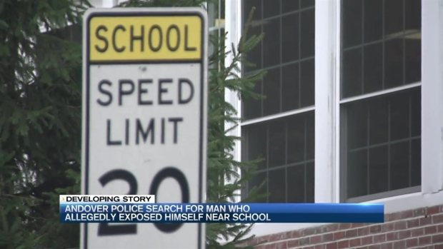 [NECN] Police Search for Suspect Who Exposed Himself Near School in Andover, Massaachusetts