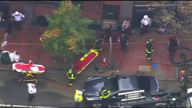 [NECN] Crews Respond to Flooded Street in Boston's South End