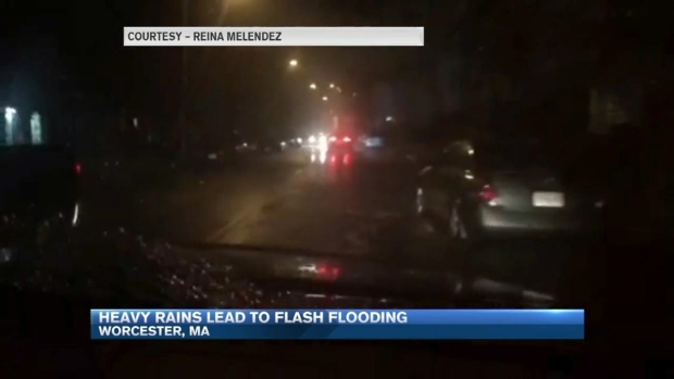 [NECN] Heavy Rains Lead to Flash Flooding