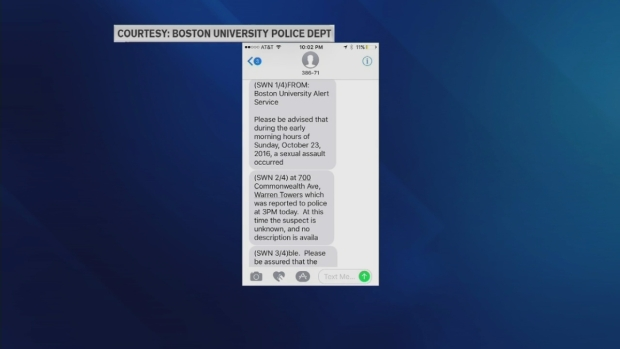 [NECN] Sex Assault Reported on Boston University Campus