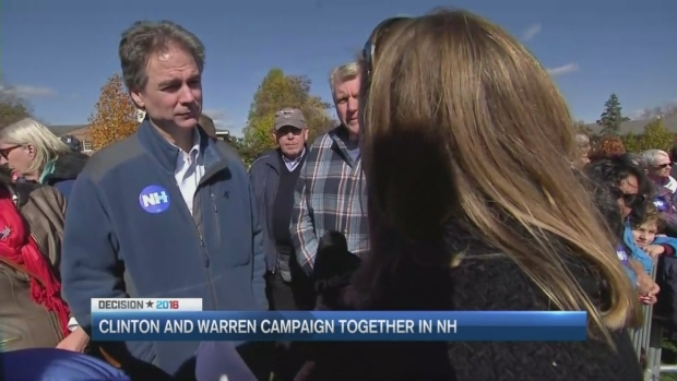 [NECN] Hillary Clinton, Elizabeth Warren Campaign Together in NH