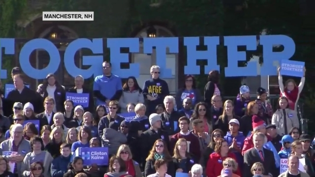 [NECN] Warren Joins Clinton at NH Rally