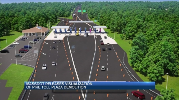 [NECN] Expect Delays as Crews Replace Tolls at Exit 10 on the Mass. Pike