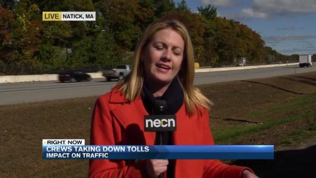 [NECN] MassDOT Provides Update as Commuters React to Toll Demoliton