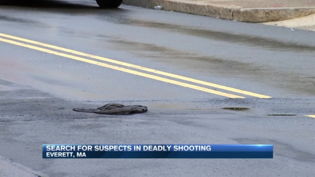 [NECN] Police Search for Suspects in Deadly Everett Shooting
