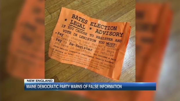[NECN] Fake Election Fliers Circulate on Maine College Campus