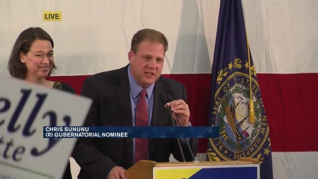 [NECN] Rep. Chris Sununu Speaks to Supporters Election Night