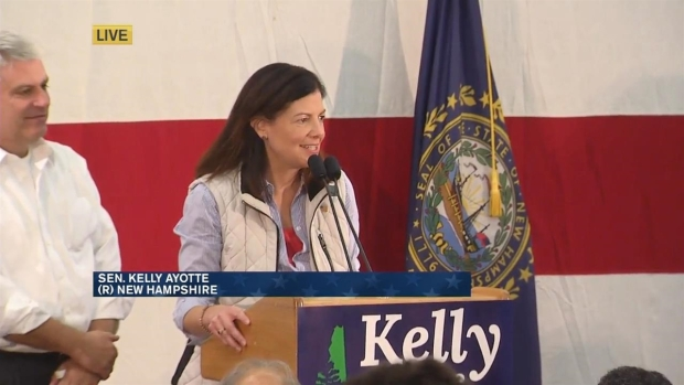 [NECN] Hassan, Ayotte Boost Supporters' Spirits in Tight Contest