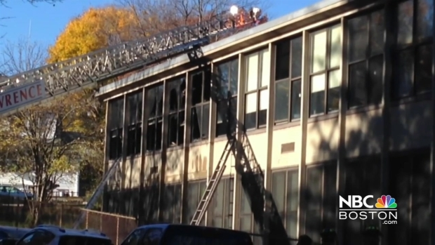 [NECN] Fire Breaks out at Lawrence, Mass. School