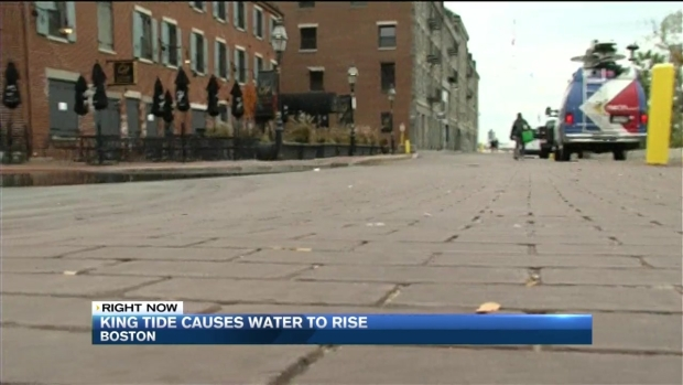 [NECN] King Tide Causes Water to Rise