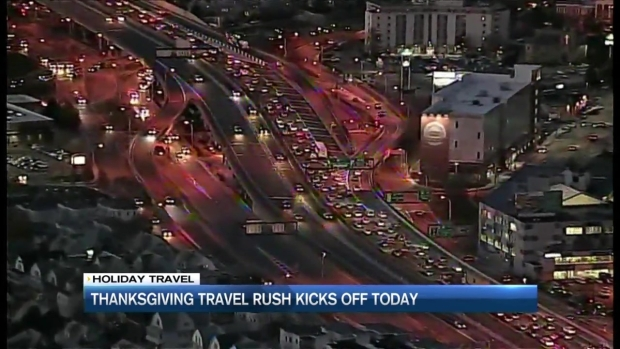 [NECN] Heavy Traffic Expected on Mass. Highways for Thanksgiving