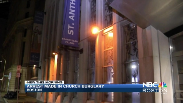 [NECN] Suspect Arrested in Boston Church Break-In, Burglary