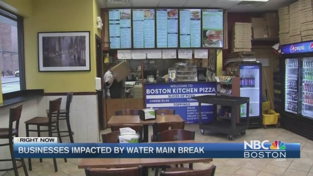 [NECN] Water Main Break Floods Streets, Stops Traffic, Triggers Fires