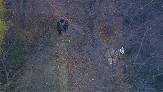 [NECN] AERIAL FOOTAGE: Crews Find Decapitated Body Along Riverbank