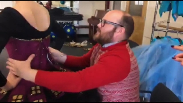 Costume Designer Dustin Rennells Fits Sugar Plum Fairy