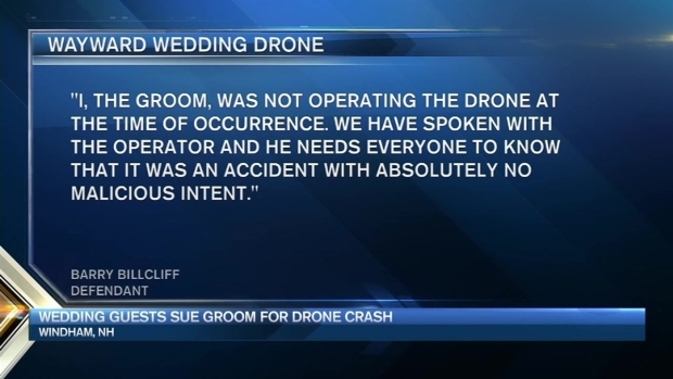 [NECN] Wedding Guests Sue Groom, Say His Drone Hit Them on Dance Floor