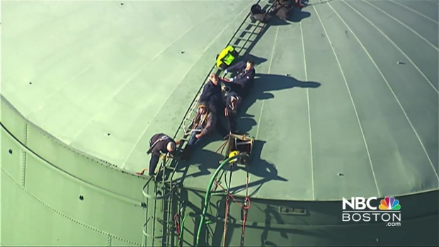 [NECN] Workers Trapped in Water Tank in Braintree, Mass.