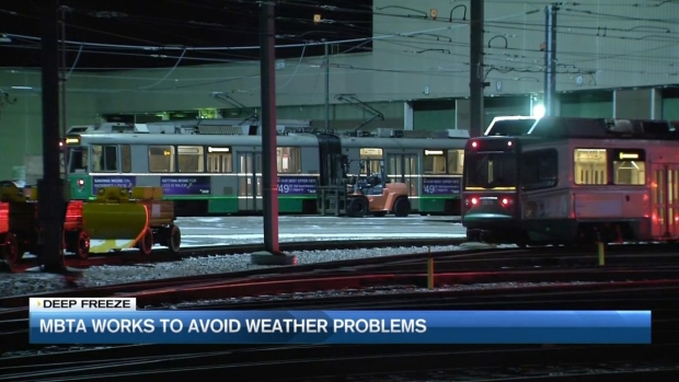 [NECN] MBTA Prepares Operations Overnight for Cold Blast