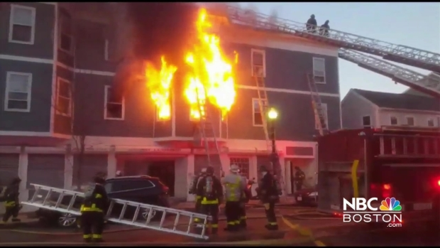 [NECN] Viewer Video: 6-Alarm Fire Breaks Out in Charlestown