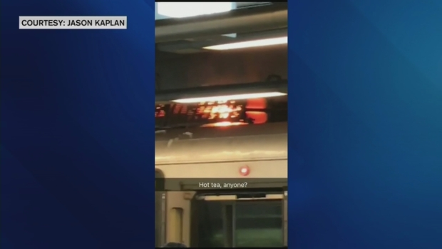 [NECN] Green Line Trolley Catches Fire