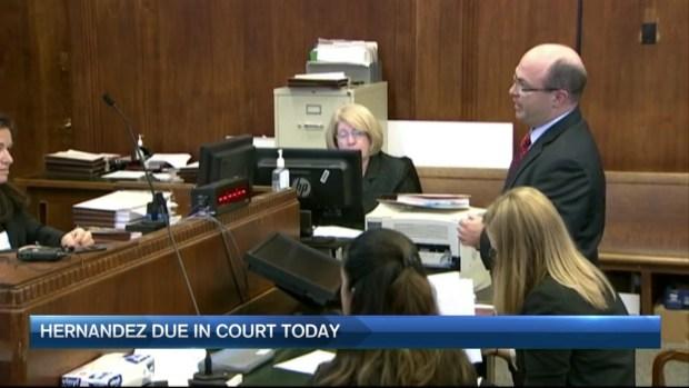 [NECN] Aaron Hernandez Back in Court in 2012 Double Murder Case
