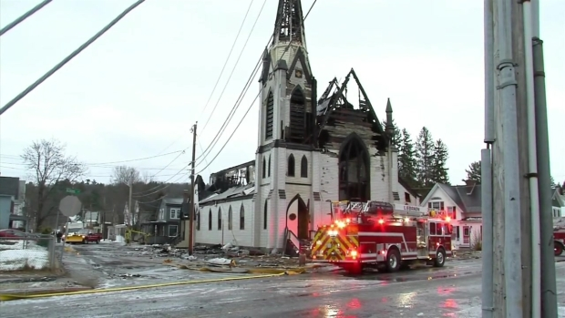 [NECN] 3-Alarm Fire Destroys Church in Lebanon, NH