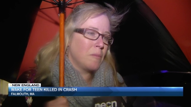 [NECN] Wake for Teen Killed in Crash