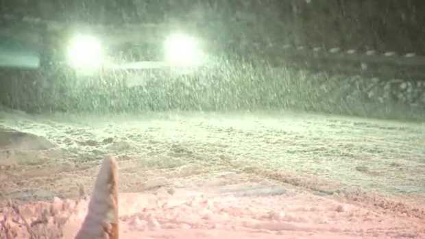 [NECN] Cleanup Continues After Storm Drops Snow Across Region