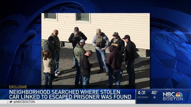 [NECN] Investigators Scour Neighborhood After Finding Stolen Car Linked to Escaped Prisoner