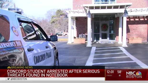 [NECN] Teen Accused of Making 'Serious Threats' in Notebook
