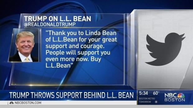 [NECN] Trump Throws Support Behind L.L. Bean