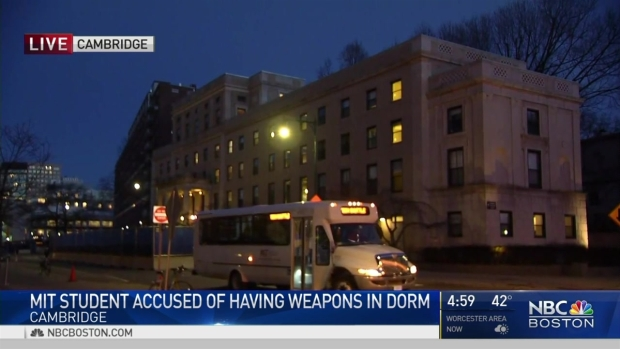 [NECN] MIT Student Accused of Having Weapons in Dorm