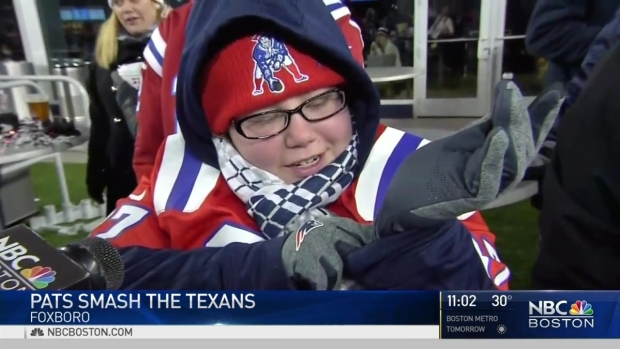 [NECN] Foxborough Fans Endure Cold During Pat's Hot Performance