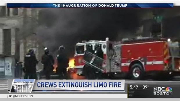 Limo Set Ablaze at Inauguration
