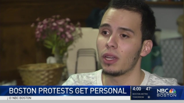 [NECN] Bostonians Rallying After Trump Orders on Immigration