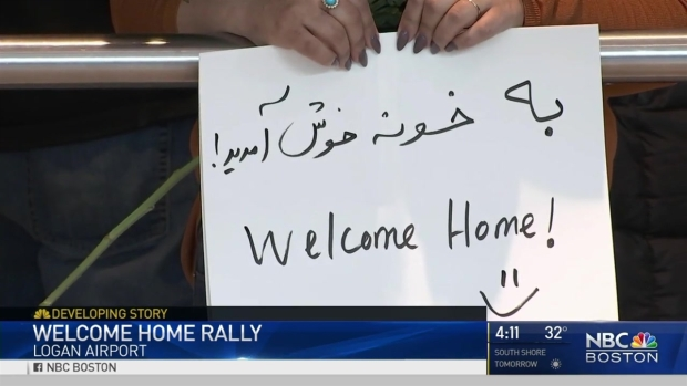 [NECN] Emotional Reunions at Logan for Those Impacted by Travel Ban