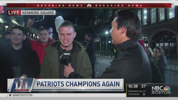 Patriots Fans Rejoice In Kenmore Square