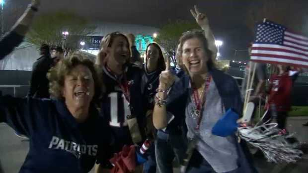 Pats Fans in Houston React to Win