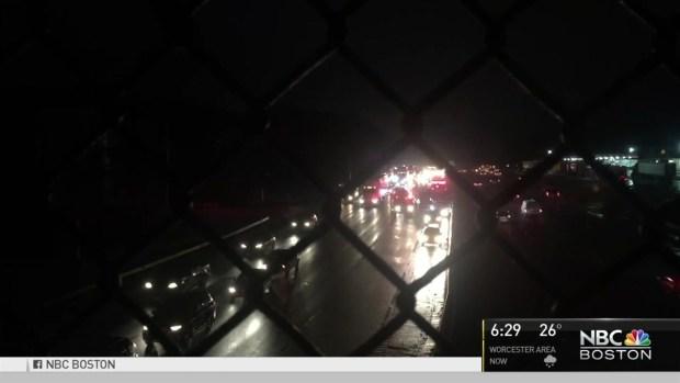 [NECN] Numerous Car Crashes Shut Down Major Highways