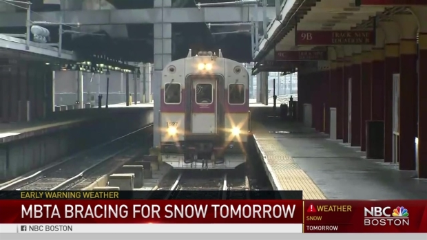 [NECN] MBTA Bracing for Snow