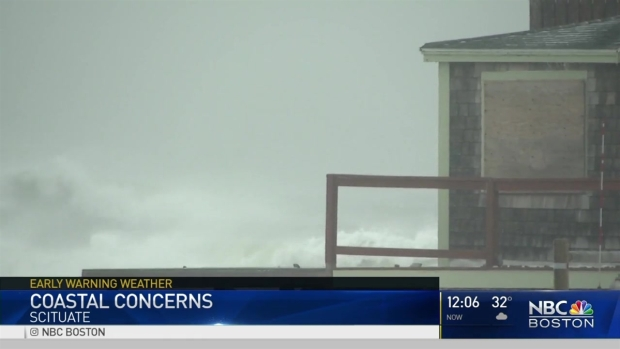[NECN] Nor'easter Pounds New England Coast With Wind, Flooding and Snow