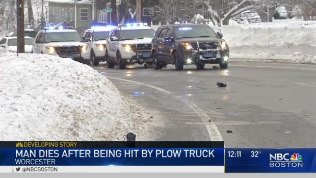 [NECN] Man Hit, Killed by Snow Plow