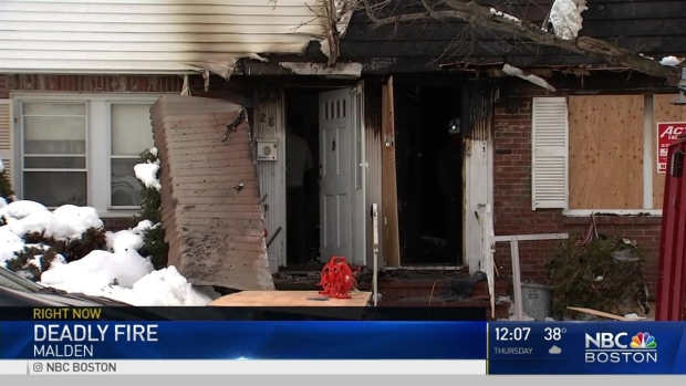 [NECN] Apartment Fire in Malden Leaves One Dead