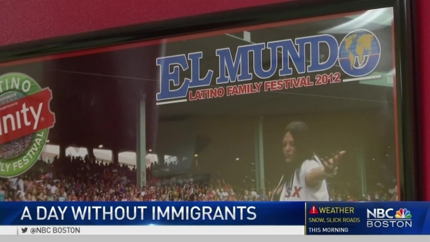 [NECN] Immigrants Protest 'A Day Without Immigrants'