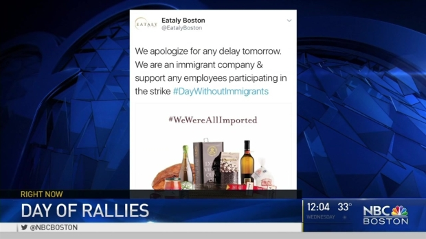 [NECN] Restaurants Close in Protest of 'A Day Without Immigrants'
